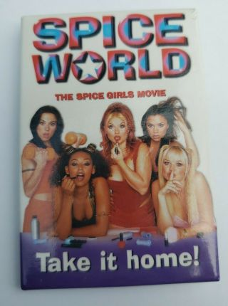 Spice Girls Movie Dvd Release Pin Promo Pinback Button 1997 1998