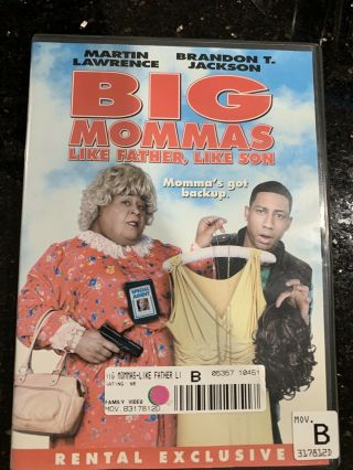 Big Mamas Like Father,  Like Son Dvd Movie