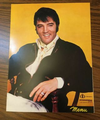 Elvis Presley Authentic Menu From The International Hotel In Las Vegas & Dvd