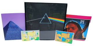 "Pink Floyd Framed Album Cover "" Dark Side Of The Moon "" W/posters & Stickers"