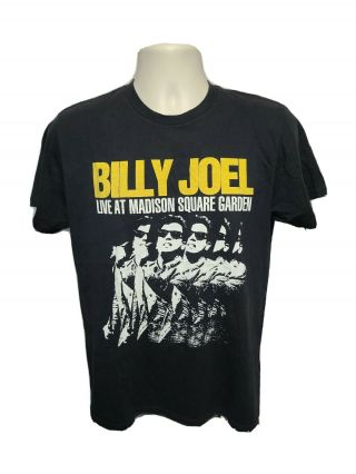 Billy Joel Live Home At The Garden Msg Tour Performances Adult M Black Tshirt