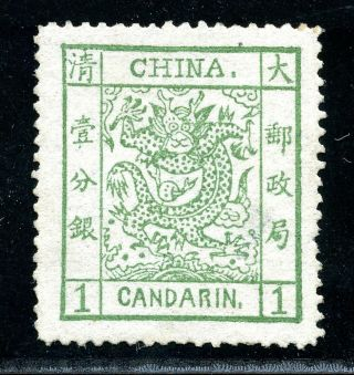 1882 Large Dragon Wide Margins 1cd Never Hinged Chan 4