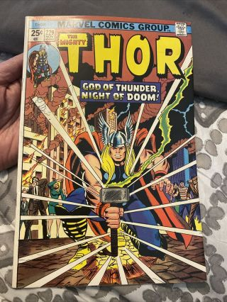Thor 229 - Ad For Incredible Hulk 181 & 1st Wolverine - Marvel (1974) Vf,