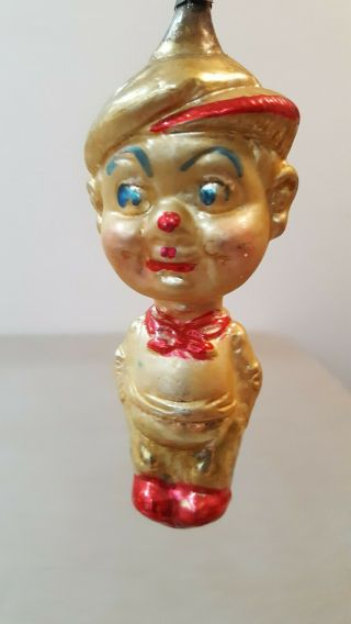 """ Smitty "" Vintage Comic Strip Character Christmas Ornament German Antique 4.  5"""