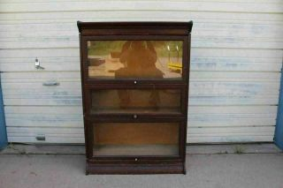 Old Grand Rapids Mahogany Lawyer Barrister Stacking Bookcase