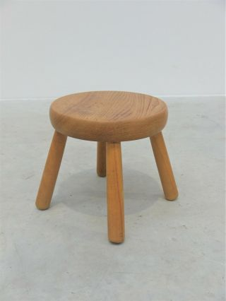 1960 Vintage French Milking Stool Charlotte Perriand Les Arc Midcentury