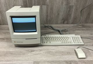 Vintage Apple Macintosh Classic Computer With Keyboard And Mouse