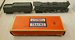 Vintage Lionel No.  2065 Hudson Steam Locomotive & 6026w Tender In Orig Box