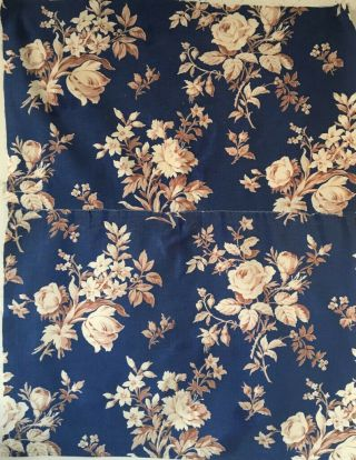 19th Century French Floral Printed Fabric