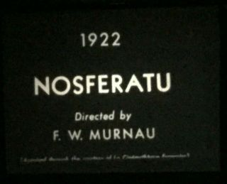 "8mm Silent Film "" Nosferatu "" 1922 1 - 800"