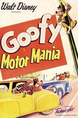 16mm Walt Disney Cartoon Motor Mania Goofy 1950 Eastman 4b