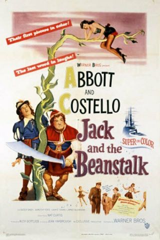 16mm Feature Jack & The Beanstalk Abbott & Costello Buddy Baer 1952 Bw
