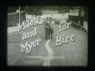 "16mm Tv - Mack & Myer For Hire - "" The Baby Sitters "" - Joey Faye - Mickey Deems - 1963"