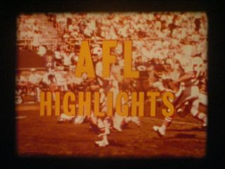 16mm - Afl Highlights - October 20 1968 - Jets/patriots - Oilers/bills - Dolphins/broncos