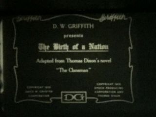 "8mm Silent Film "" The Birth Of A Nation 1914 3 - 800"