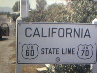 16mm Home Movie Film 1940s California State Line To Los Angeles & Yosemite
