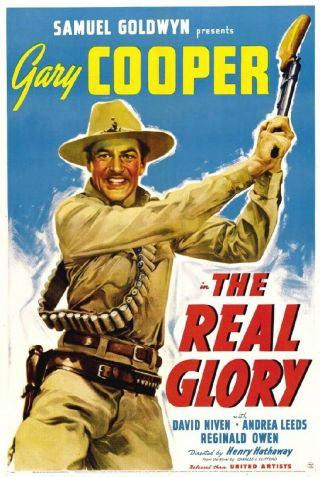 16mm The Real Glory - 1939.  Gary Cooper,  David Niven B/w Feature Film.