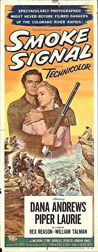 Smoke Signal 1955 16mm B&w Dana Andrews Feature Film Western Drama