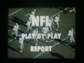 16mm Sound/silent - Nfl Play - By - Play Report - 1964 - Bears - 49
