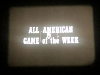16mm All - American Game Of The Week,  Oklahoma Vs Colorado College Football 1957