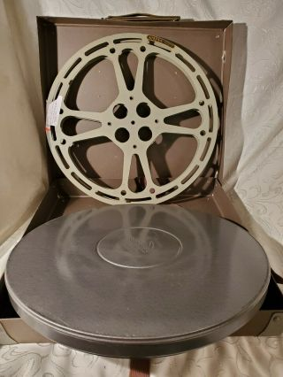 "Vtg 15 "" Man Cave Theater Room Film Reel Wall Decor Steel Case Box Excl"