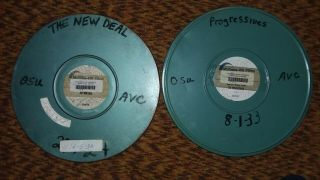 Two 16mm Sound Films.  The Deal.  Progressives (1200ft)