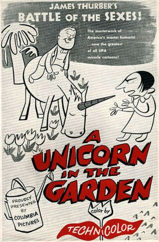 16mm Cartoon Unicorn In The Garden 1953 James Thurber Ib Tech Columbia/upa