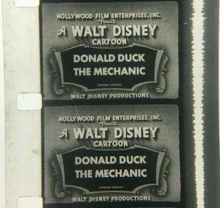 "16mm Sound Cartoon: Mickey And Friends ""donald The Mechanic"""