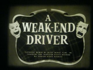 "16mm Sound - "" A Weekend Driver "" - Larry Semon - Castle Films Old Time Movies - Scored"