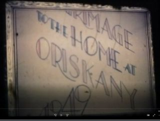 16mm Film Pilgrimage To The Home In Oriskany Oes 1949 Color No Sound