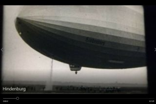 16 Mm Film Hindenburg From 1st Us Flight To The End News Reel Documentary