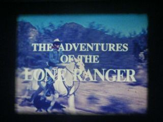 """16mm Tv Show - The Lone Ranger - """" The Counterfeit Mask """" - 1956 - Fuji Color Print"""