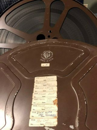 16mm Film Bw Short Cartoons And Comedies With Sound - One 2,  000ft Metal Reel