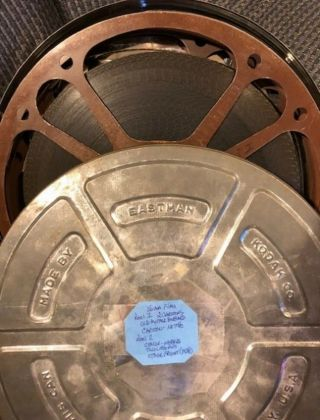 16mm Bw Short Cartoons And Comedies With Sound.  2 Reels Of Film 1600ft