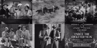 16mm Film Under The Cock - Eyed Moon (1930) Bob Carney Si Wills Western Comedy Pd