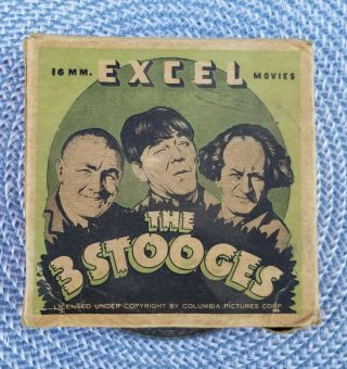 """Vintage The 3 Stooges """" Plane Crazy """" 16mm Movie Film Comedy Excel Movies 1940"""