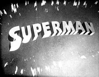 Superman Cartoon 16mm B&w Version From Fleischer Studios