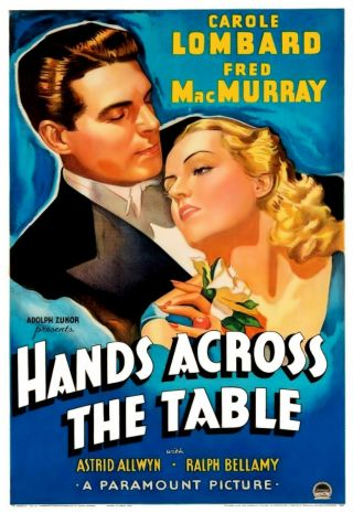 Rare 16mm Feature: Hands Across The Table (carole Lombard / Fred Macmurray)