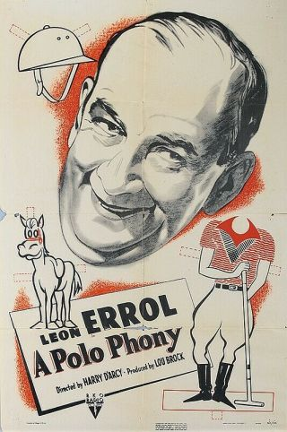 Rare 16mm Comedy Short: A Polo Phony (leon Errol)