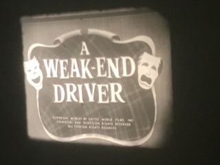 16mm A Weak - End Driver Larry Semon Comedy Weakend 400' Sound