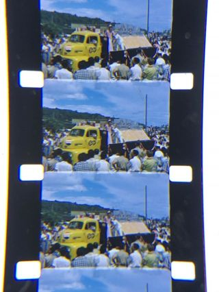 16mm Silent Kodachrome Home Movie Guam 1954 Pepsi Co Truck,  Hula Dancers 400""