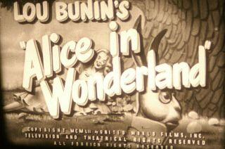16mm - Alice In Wonderland - Castle Films Cutdown Of 1949 Puppet Feature