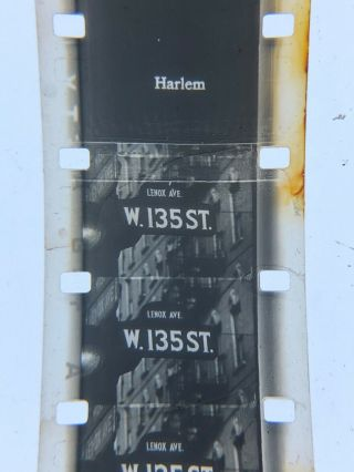 "16mm Silent York City,  Harlem,  Empire State,  Chinatown More Vg 100"" 1930's"