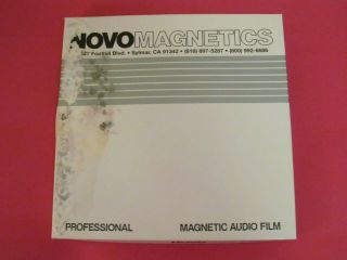 Novo Magnetics 16mm Magnetic Audio Film 1200 Ft Fullcoat Sound Movie