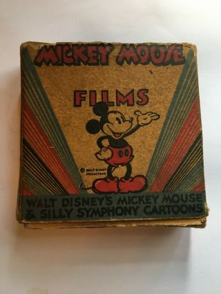Mickey Mouse & Silly Symphony Cartoon Donald Duck In Busting Bubbles 16 Mm