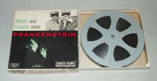 "Vtg Castle Films "" Abbott And Costello Meet Frankenstein "" / Rare 16mm"
