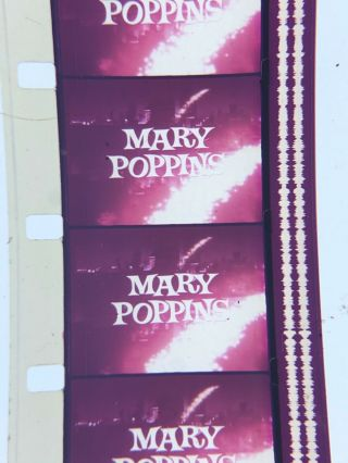 16mm Sound Color Mary Poppins Walt Disney Theatrical Trailer 1964 Classic Vg