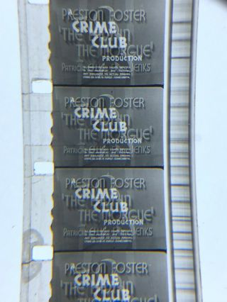 16mm Sound B/w Feature Lady In The Morgue Crime Club Universal 1938 Vg Uncut