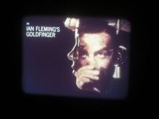"""16mm Feature Sean Connery """" Goldfinger """" Vg Print With Good Color"""