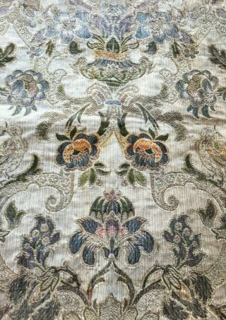 Antique 18th 19th C French ? Tapestry Bullion Thread Hand Embroidered Old